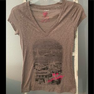 Express sheer graphic T-shirt